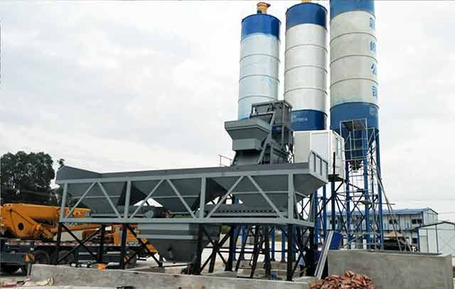 The XINFENG mixing plant HZS75 has established in Davao
