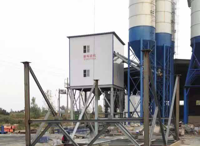 Xinfeng 120m3/h Concrete Mixing Plant is establishing