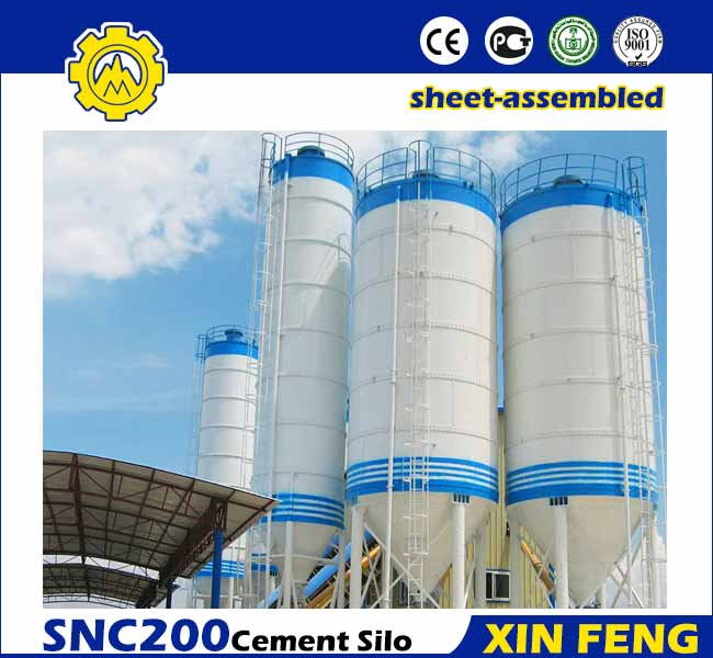 Sheet-assembled 200T Cement Silo